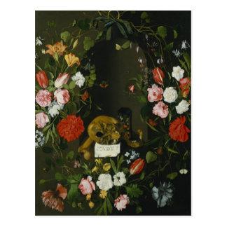 Vanitas Still Life with Flowers Postcard