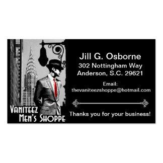 Vaniteez Men's Shoppe Business Cards