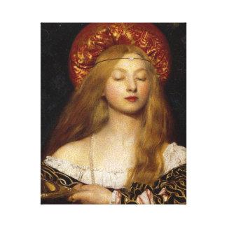Vanity - A Medieval Maiden Canvas Print