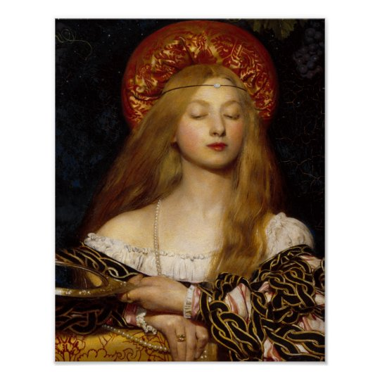 Vanity A Medieval Maiden Poster Zazzle