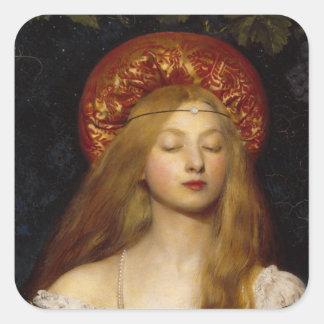 Vanity - A Medieval Maiden Square Sticker