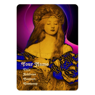 VANITY BEAUTY-FASHION COSTUME DESIGNER Gold Metal Large Business Cards (Pack Of 100)