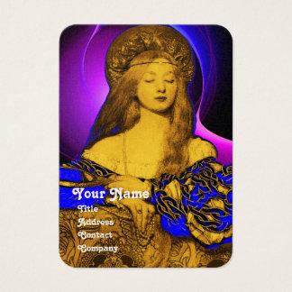 VANITY BEAUTY-FASHION COSTUME DESIGNER Gold Metal Business Card