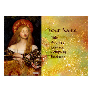 VANITY BEAUTY FASHION COSTUME DESIGNER Gold Yellow Large Business Card