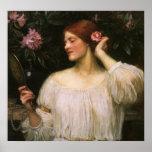 Vanity by JW Waterhouse Vintage Victorian Portrait Poster