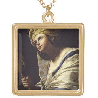 Vanity, c.1650-70 (oil on canvas) gold plated necklace