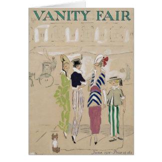 Vanity Fair 1914 Tarjeta De Felicitación