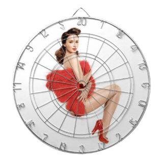 Vanity Fair Girl Design Dartboard