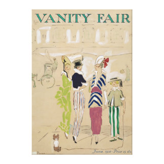 Vanity Fair Magazine Cover Art from June 1914 Canvas Print