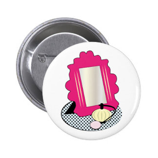 Vanity Mirror Base Pinback Button