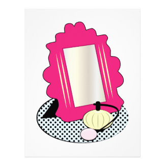 Vanity Mirror Base Custom Letterhead