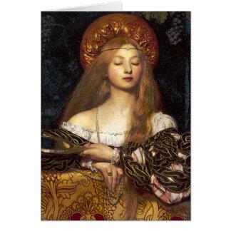 Vanity Pre Raphaelite Lady Card