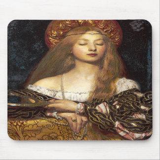 Vanity-Pre-Raphaelite woman mousepad