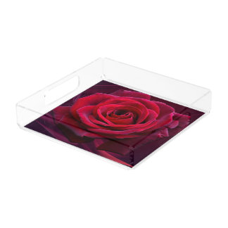 Vanity Tray/Rose Acrylic Tray