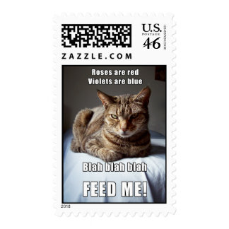 Vanlentine Cat funny poem II Postage Stamps