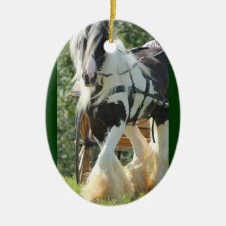 Vanner gitano adorno navideño ovalado de cerámica