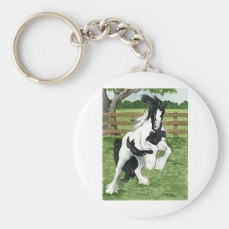 Vanner gitano en el arte del caballo del juego llavero personalizado