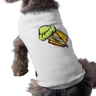 Vannilla ice cream dog t-shirt
