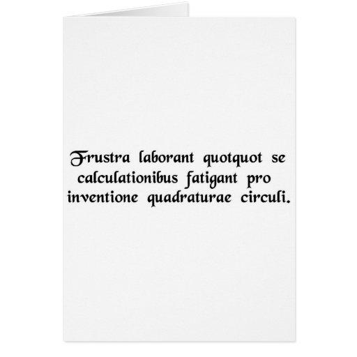 Vano es el trabajo de los que se cansen…. tarjetas