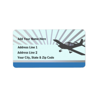 Vans RV-10 Personalized Address Label