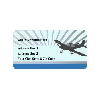 Vans RV-10 Personalized Address Label