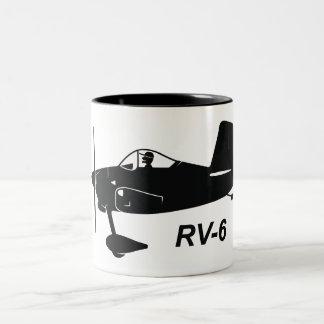 Vans RV-6 Caricature Two-Tone Coffee Mug