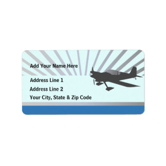 Vans RV-6 Personalized Address Label