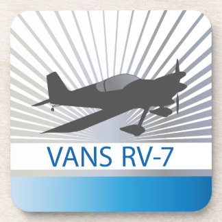 Vans RV-7 Airplane Beverage Coaster