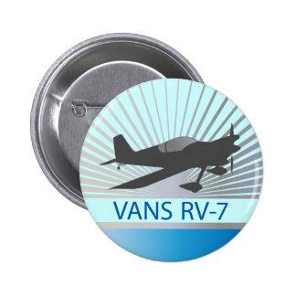 Vans RV-7 Airplane 2 Inch Round Button