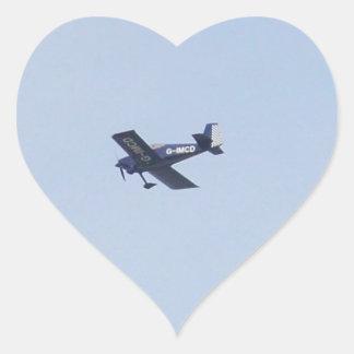 Vans RV-7 Light Airplane Heart Sticker