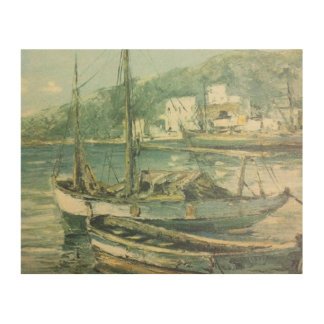 "Vantage boats 10"" x 8"" Wood Canvas"