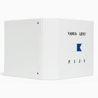 Vanua Levu Fiji Alpha Dive Flag Vinyl Binder