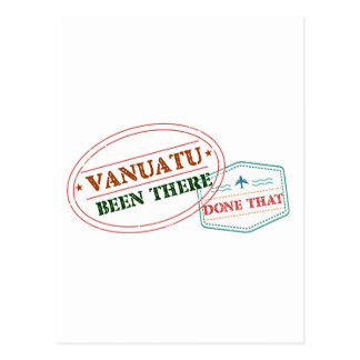 Vanuatu Been There Done That Postcard