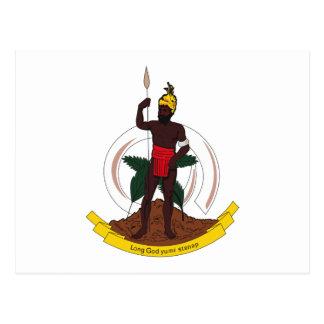 Vanuatu Coat of Arms Postcard