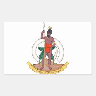 Vanuatu Coat of Arms Rectangular Sticker