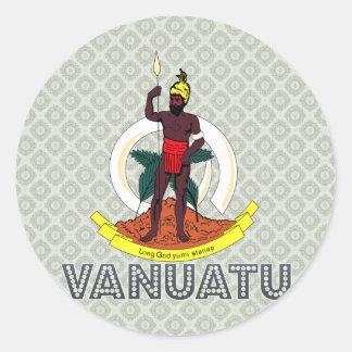 Vanuatu Coat of Arms Round Sticker