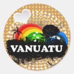 Vanuatu con sabor a fruta lindo pegatina redonda