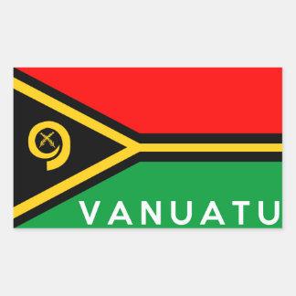 vanuatu country flag symbol name text rectangular sticker