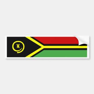 Vanuatu Flag Car Bumper Sticker