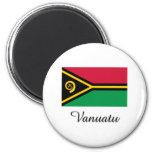 Vanuatu Flag Design Fridge Magnet