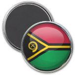 Vanuatu Flag Glass Ball Magnets