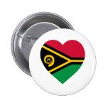 Vanuatu Flag Heart Button