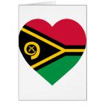 Vanuatu Flag Heart Greeting Card