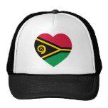 Vanuatu Flag Heart Trucker Hat