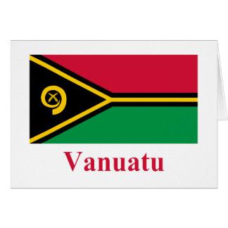 Vanuatu Flag with Name Card