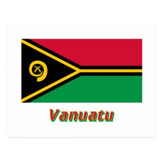 Vanuatu Flag with Name Postcard