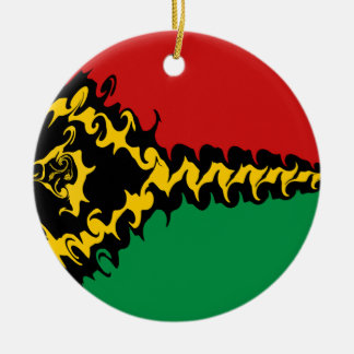 Vanuatu Gnarly Flag Double-Sided Ceramic Round Christmas Ornament