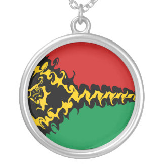 Vanuatu Gnarly Flag Silver Plated Necklace