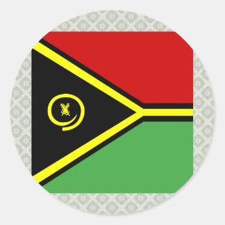 Vanuatu High quality Flag Stickers