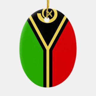 Vanuatu Double-Sided Oval Ceramic Christmas Ornament